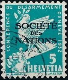 Switzerland 1932 Official Stamps for the International Labor Bureau