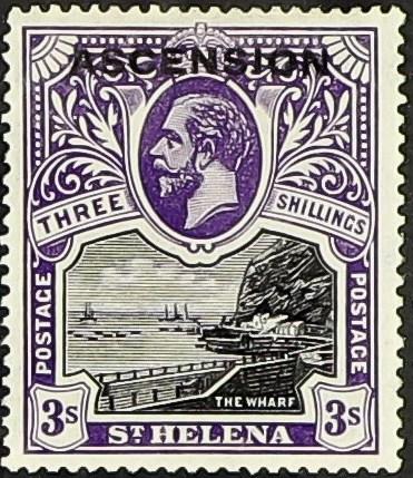 """Ascension 1922 Stamps of St. Helena Overprinted """"ASCENSION"""" l.jpg"""