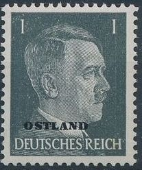 German Occupation-Russia Ostland 1941 Stamps of German Reich Overprinted in Black