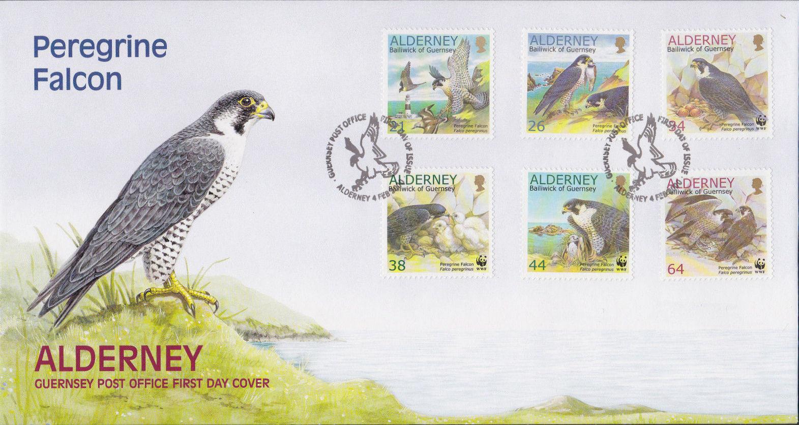 Alderney 2000 WWF Peregrine Falcon FDCa.jpg