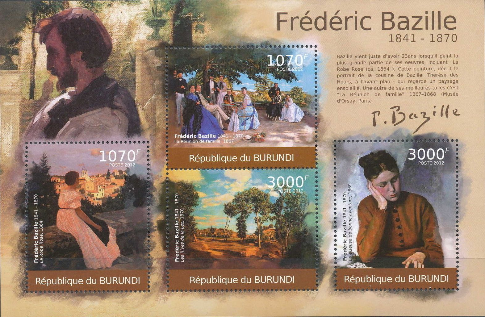 Burundi 2012 Paintings by Frederic Bazille