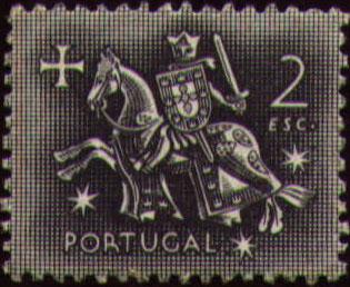 Portugal 1953 Definitives - Medieval Knight j.jpg