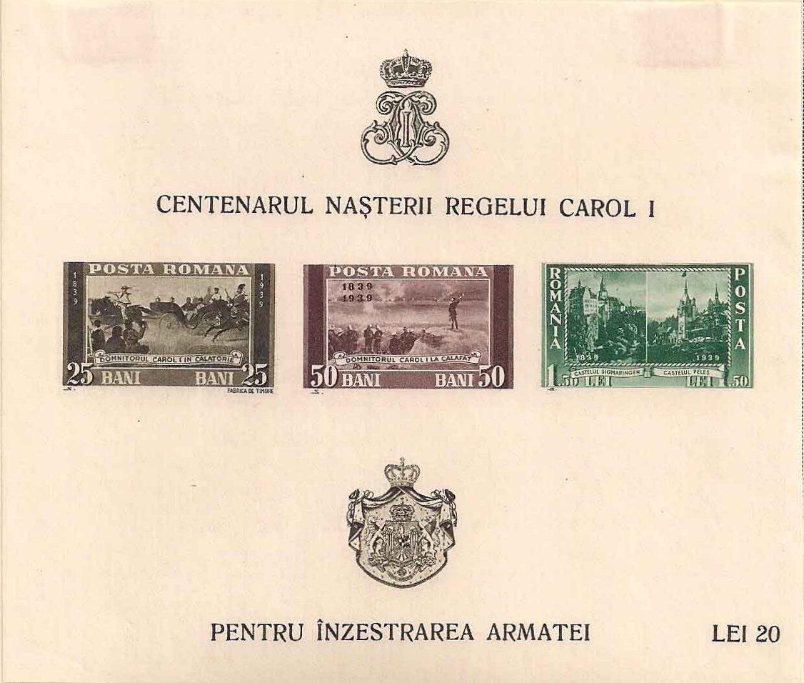 Romania 1940 Centenary of the Birth of King Carol I