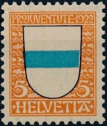 Switzerland 1922 PRO JUVENTUTE - Coat of Arms