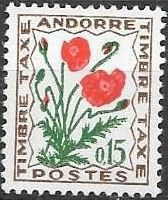 Andorra-French 1964 Flowers - 1st Group (Postage Due Stamps)