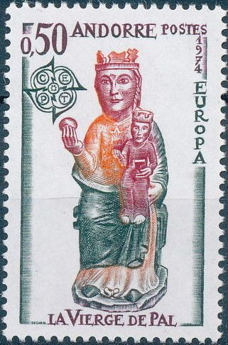 Andorra-French 1974 - Europa - Sculptures