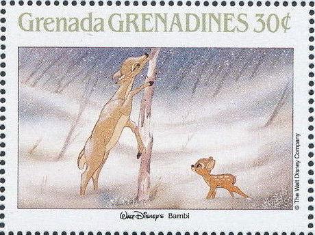 Grenada Grenadines 1988 The Disney Animal Stories in Postage Stamps 1e.jpg