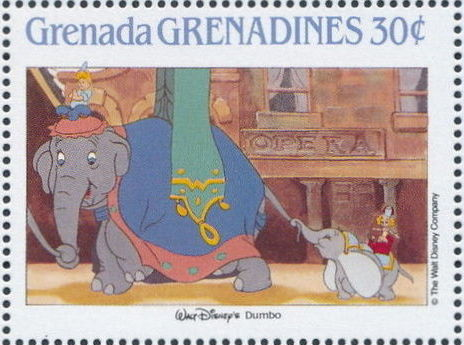 Grenada Grenadines 1988 The Disney Animal Stories in Postage Stamps 4c.jpg