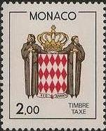 Monaco 1986 National Coat of Arms - Postage Due Stamps (2nd Group) c.jpg