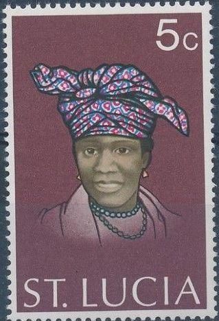 St Lucia 1973 Women's Headdresses