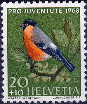 Switzerland 1968 PRO JUVENTUTE - Birds b.jpg