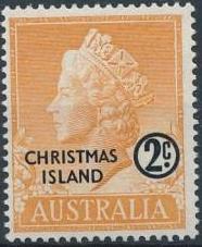 Christmas Island 1958 Queen Elizabeth II