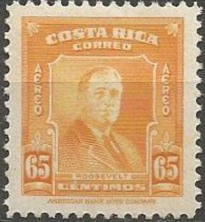 Costa Rica 1947 Franklin D. Roosevelt - Air Post Stamps d.jpg