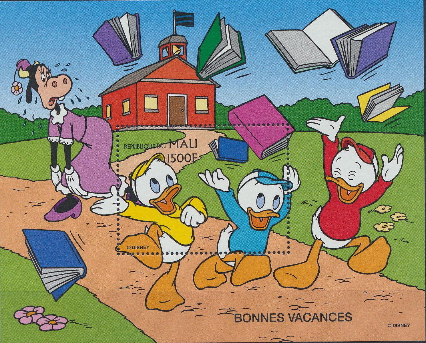 Mali 1997 Greetings Stamps - Walt Disney Characters j.jpg
