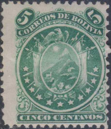 Bolivia 1871 Coat of Arms (11 Stars)
