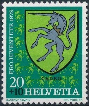 Switzerland 1979 PRO JUVENTUTE - Municipal Coat of Arms