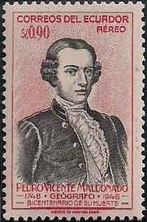 Ecuador 1948 200th Anniversary of the Death of Pedro Vicente Maldonado-Air Post Stamps b.jpg