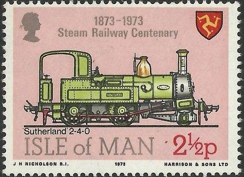 Isle of Man 1973 Centenary of Manx Steam Railroad