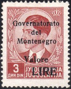 Montenegro 1941 Yugoslavia Stamps Surcharged under Italian Occupation c.jpg
