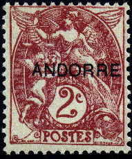 "Andorra-French 1931 Type ""Blanc"" of France Overprinted ""ANDORRE"" b.jpg"