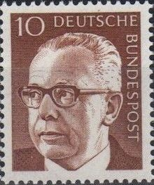 Germany, Federal Republic 1970 President Gustav Heinemann (2nd Group)