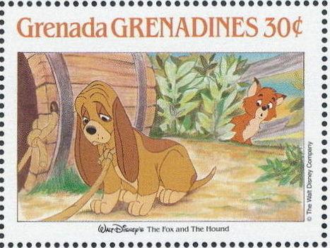 Grenada Grenadines 1988 The Disney Animal Stories in Postage Stamps 2d.jpg