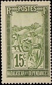 Madagascar 1927 Transportation by Sedan Chair