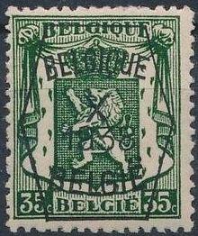 Belgium 1938 Coat of Arms - Precancel (10th Group) e.jpg