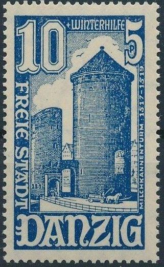 Danzig 1936 Surtax for Winter Welfare - City Buildings