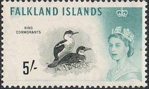 Falkland Islands 1960 Queen Elizabeth II and Birds m.jpg