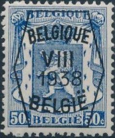 Belgium 1938 Coat of Arms - Precancel (8th Group) f.jpg