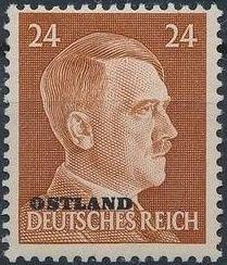 German Occupation-Russia Ostland 1941 Stamps of German Reich Overprinted in Black l.jpg