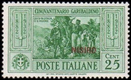 Italy (Aegean Islands)-Nisiro 1932 50th Anniversary of the Death of Giuseppe Garibaldi c.jpg