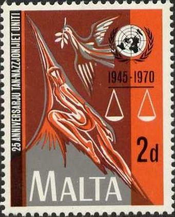 Malta 1970 25th Anniversary of the United Nations