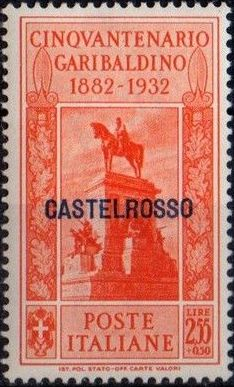 Italy (Aegean Islands)-Castelrosso 1932 50th Anniversary of the Death of Giuseppe Garibaldi i.jpg