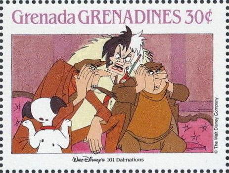 Grenada Grenadines 1988 The Disney Animal Stories in Postage Stamps 3d.jpg