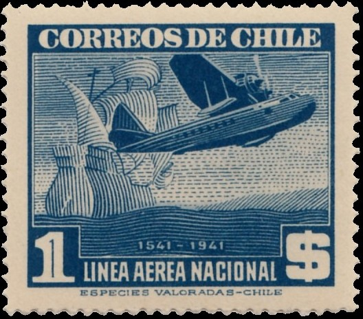 Chile 1941 Air Post Stamps (Type 1941) h.jpg