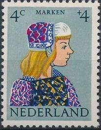 Netherlands 1960 Surtax for Child Welfare - Regional Costumes