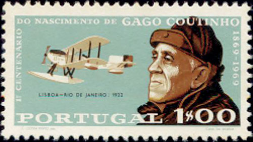 Portugal 1969 100th Anniversary of the birth of Admiral Gago Coutinho