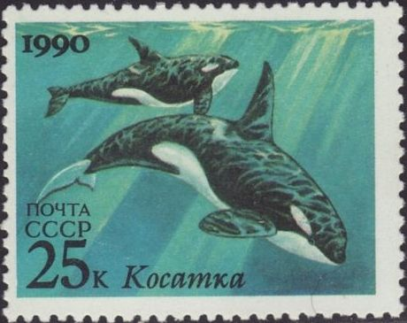 Soviet Union (USSR) 1990 Sea Mammals (Joint Issue URSS-USA) a.jpg