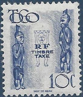 Togo 1947 Idols -Postage Due Stamps