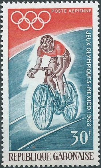 Gabon 1968 19th Summer Olympic Games Mexico City b.jpg