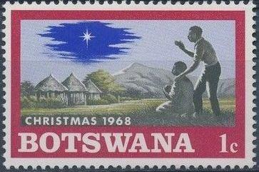 Botswana 1968 Christmas
