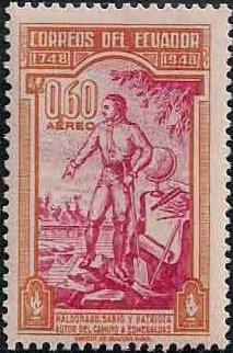 Ecuador 1948 200th Anniversary of the Death of Pedro Vicente Maldonado-Air Post Stamps