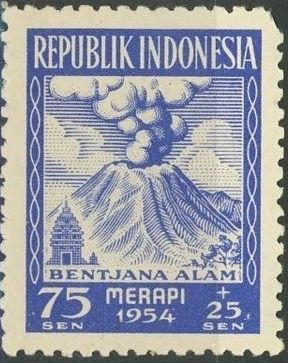 Indonesia 1954 Surtax for Victims of the Merapi Volcano Eruption d.jpg