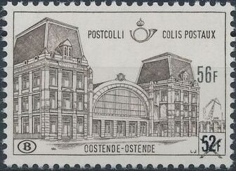 "Belgium 1971 Ostend Station Surcharged with New Value and ""X"" e.jpg"
