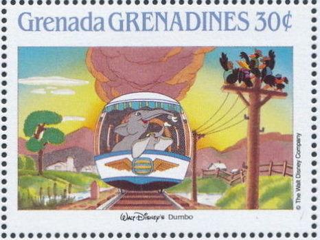 Grenada Grenadines 1988 The Disney Animal Stories in Postage Stamps 4i.jpg