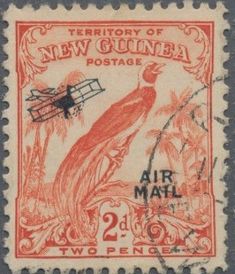 New Guinea 1932 Bird of Paradise - Air Post Stamps d.jpg