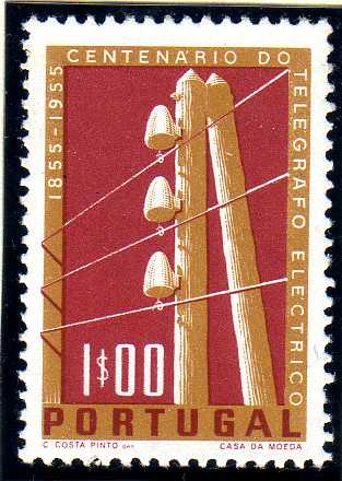 Portugal 1955 Centenary of Electric Telegraph System in Portugal