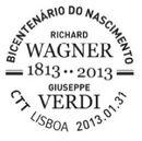 Portugal 2013 Bicentenary of the birth of R. Wagner and Giuseppe Verdi PMa.jpg